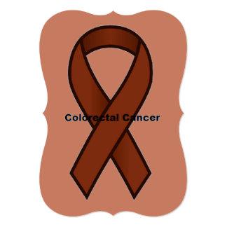 Colorectal Cancer 5x7 Paper Invitation Card