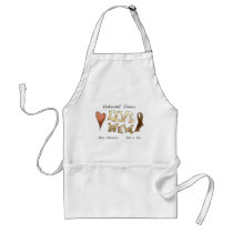 Colorectal Cancer Awareness Adult Apron