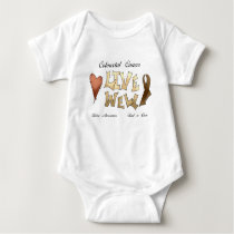 Colorectal Cancer Awareness Baby Bodysuit