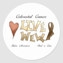 Colorectal Cancer Awareness Classic Round Sticker