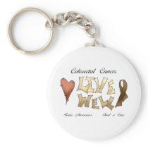 Colorectal Cancer Awareness Keychain