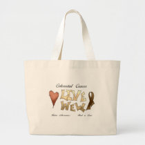 Colorectal Cancer Awareness Large Tote Bag