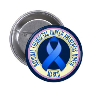Colorectal Cancer Awareness Month Button