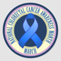 Colorectal Cancer Awareness Month Round Sticker