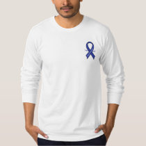 Colorectal Cancer Awareness Ribbon with Wings T-Shirt