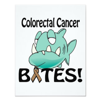 Colorectal Cancer BITES 4.25x5.5 Paper Invitation Card