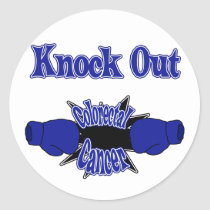 Colorectal Cancer Classic Round Sticker