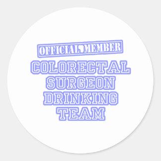 Colorectal Surgeon Drinking Team Classic Round Sticker