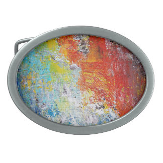 Colored Agate Belt Buckle