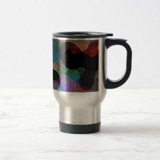 Colored Air Bubbles 15 Oz Stainless Steel Travel Mug