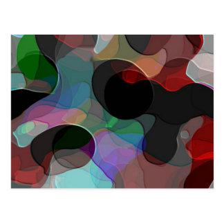 Colored Air Bubbles Postcard