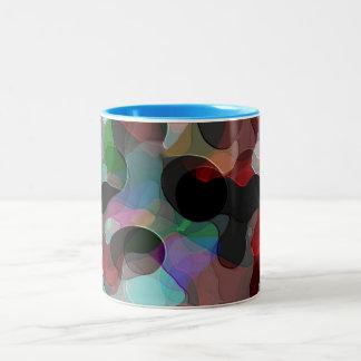 Colored Air Bubbles Two-Tone Coffee Mug