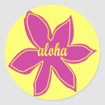 Colored Aloha flower stickers