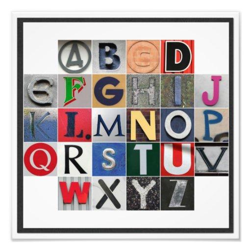 Colored Alphabet Photo Print