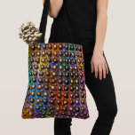colored and spots, small balls brown, lined up? tote bag