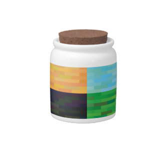 colored background candy jar