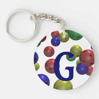 Colored Balls Abstract 3D Keychain