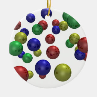 Colored Balls in 3D Ceramic Ornament