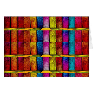 colored bamboo greeting card