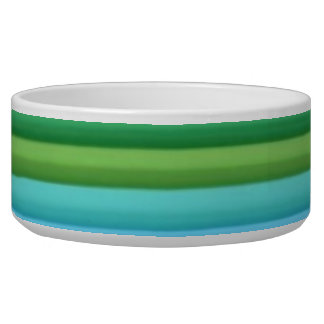 Colored Bands Pet Bowl