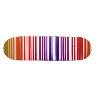 Colored Barcode Skateboard Deck