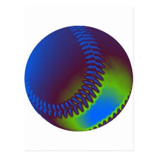 Colored Baseball Postcard