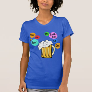 Colored Beer Bubbles Birthday Tshirt