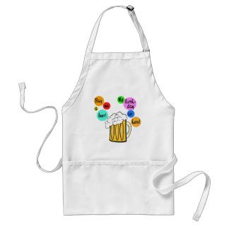Colored Beer Bubbles Birthday Tshirt Adult Apron