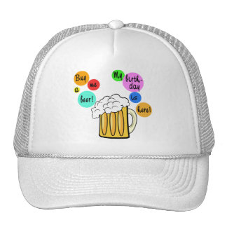 Colored Beer Bubbles Birthday Tshirt Mesh Hat