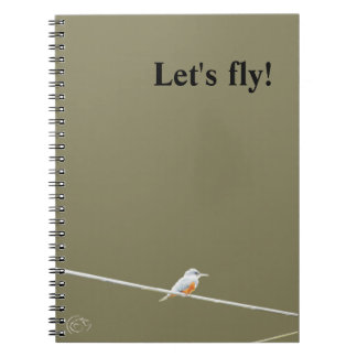 Colored bird on a wire notebook