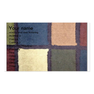 colored block pattern business card