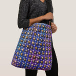 Colored bluish, small balls brown, different verse crossbody bag