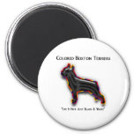 Colored Boston Terrier 2 Inch Round Magnet