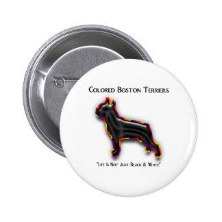Colored Boston Terrier Button