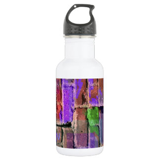 Colored Brick and Mortar 2 Stainless Steel Water Bottle