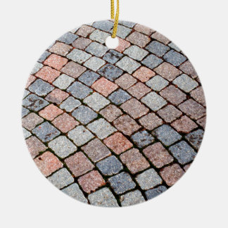 colored brick ceramic ornament