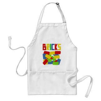 Colored Bricks by Customize My Minifig Adult Apron