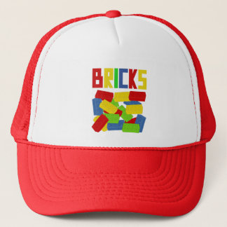 Colored Bricks by Customize My Minifig Trucker Hat