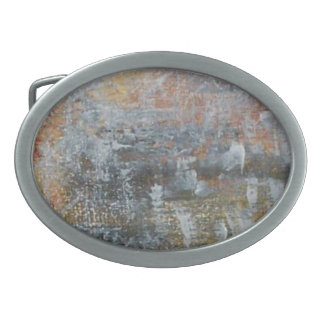 Colored Bricks Oval Belt Buckle