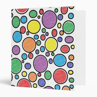 Colored Bubbles 3 Ring Binder