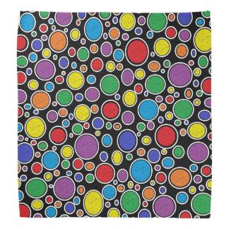 Colored Bubbles Black Bandana