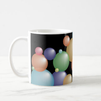 Colored Bubbles Black Mug