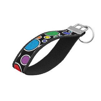 Colored Bubbles Black Wrist Keychain