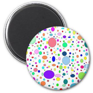 Colored Bubbles Magnet