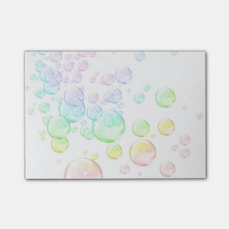 colored bubbles post-it notes