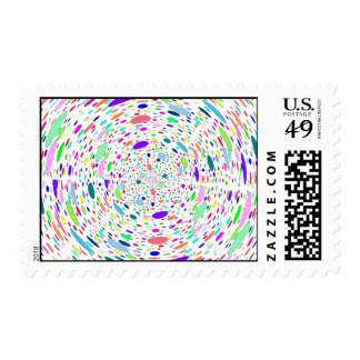 Colored Bubbles Swirl, Postage Stamps