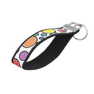 Colored Bubbles Wrist Keychain