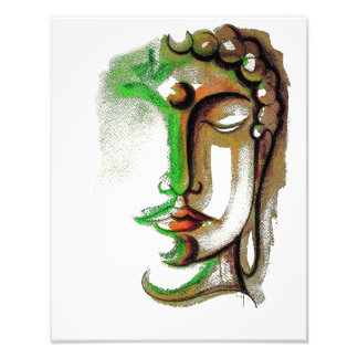 "COLORED BUDDHA FACE 11"" x 14"" Photo Enlargement"