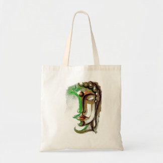 COLORED BUDDHA FACE Budget Tote