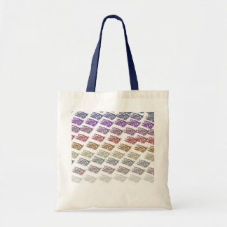 colored budget bag